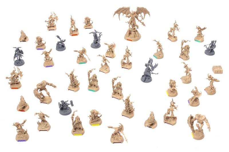 Figurki z gry planszowej Descent: Legendy Mroku