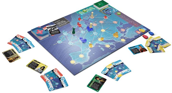 Rebel gra kooperacyjna pandemic hot zone europa plansza