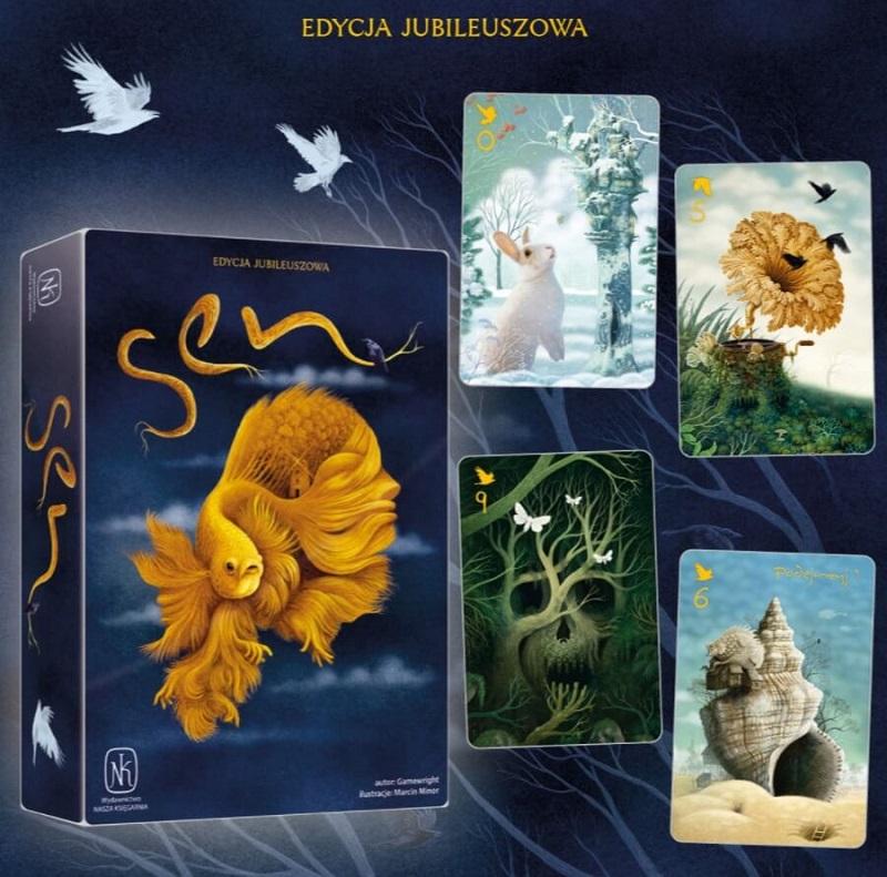 Pudełko i karty gry Sen - edycja jubileuszowa