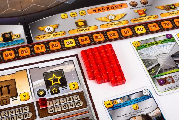 Planszetki i zasoby z gry planszowej Terraformacja Marsa