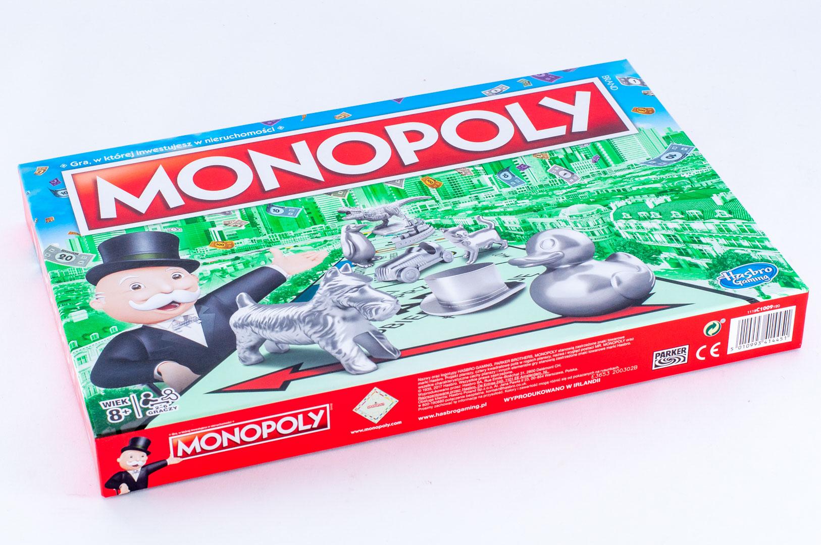 Okładka gry planszowej Monopoly Classic 2017