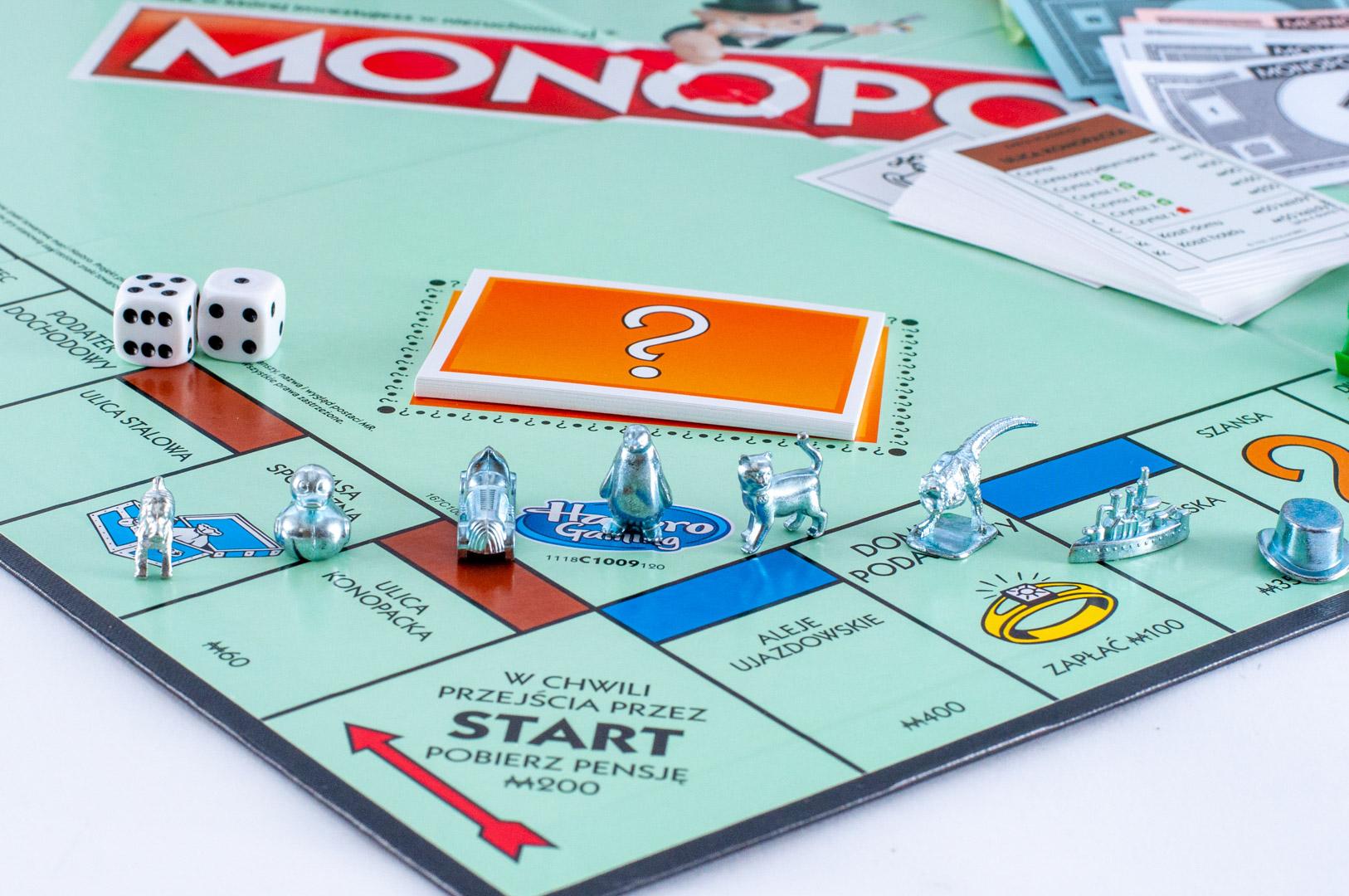 Plansza u pudełko gry planszowej Monopoly Classic