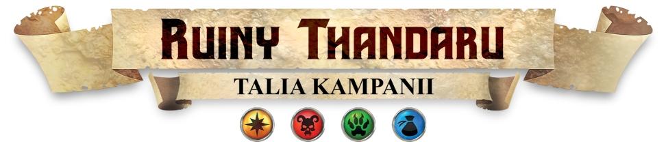 Baner podłużny gry karcianej Hero Realms Ruiny Thandaru