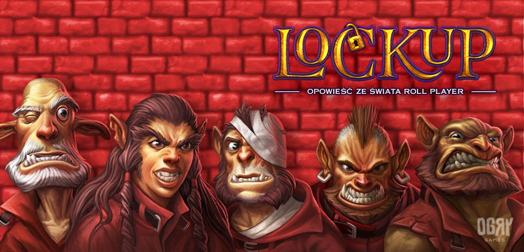 Baner promocyjny gry planszowej Lockup