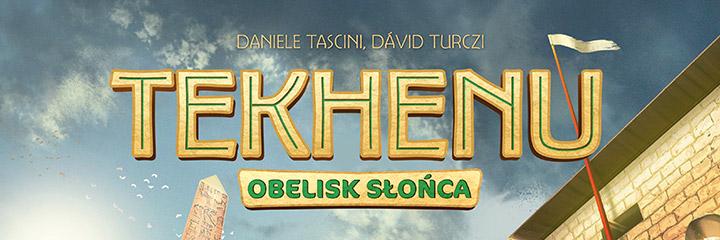 Grafika promocyjna gry planszowej Tekhenu Obelisk słońca