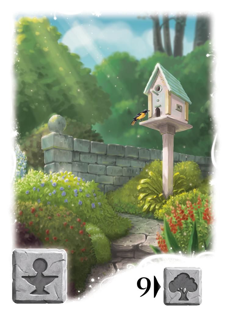 Karta z gry karcianej Tajemniczy ogród