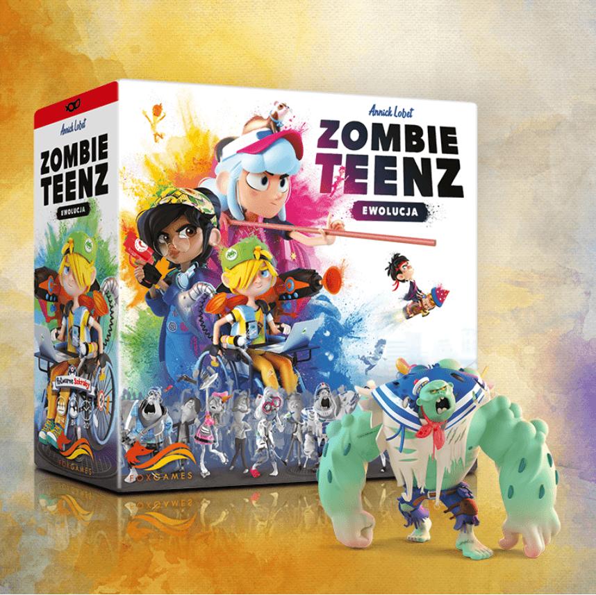 Grafika promocyjna zombie teenz ewolucja duży zombie