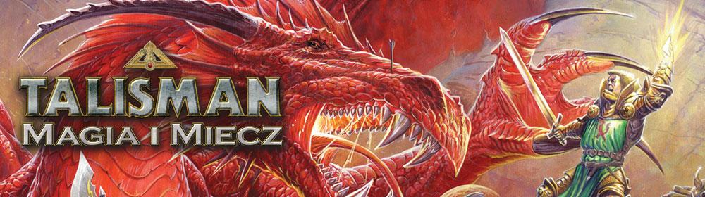Baner promocyjnt logo gry planszowej Talisman: Magia i miecz