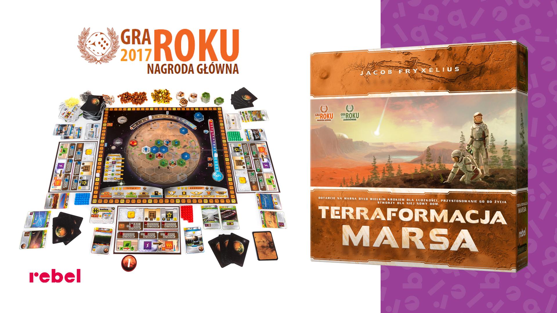 Logo Gra roku 2017 dla gry planszowej Terraformacja Marsa