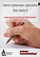 """Wypracowania - Daniel Naborowski """"Wybór wierszy"""""""