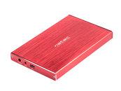 """OBUDOWA HDD/SSD ZEWNĘTRZNA NATEC RHINO LIMITED EDITION SATA 2.5"""" USB 3.0 ALUMINIUM CZERWONA SLIM"""