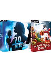 Karaoke 70 Hitów (PC) + Karaoke Kolędy 2 + mikrofon