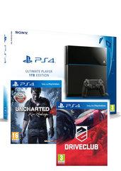 Konsola PlayStation 4 1TB + Uncharted 4 + Driveclub - kurier 0 zł
