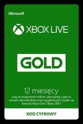 Xbox LIVE GOLD 12 miesięcy (XOne/X360) DIGITAL