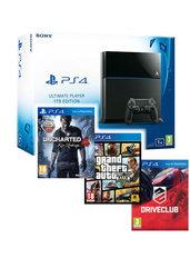 Konsola PlayStation 4 1TB + Uncharted 4 + GTA V  + Driveclub - kurier 0 zł