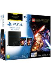 Konsola PlayStation 4 1TB + gra LEGO Gwiezdne Wojny: Przebudzenie Mocy + film Przebudzenie Mocy + 2 gry do wyboru