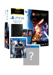 Konsola PlayStation 4 1TB + gra LEGO Gwiezdne Wojny: Przebudzenie Mocy + film + Uncharted 4 + gra do wyboru