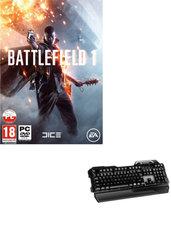 Battlefield 1 + Klawiatura membranowo-mechaniczna RAVCORE Hybrid USB + Saperka (PC)