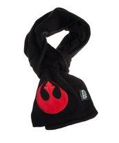 STAR WARS Czarny szalik z czerwonym emblematem rebeliantów