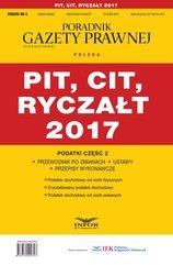 Podatki cz.2 PIT, CIT, RYCZAŁT 2017