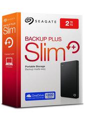 """Dysk zewnętrzny Seagate Backup Plus 2,5"""" 2TB USB 3.0 - kolor czarny (PS4/MAC/PC)"""