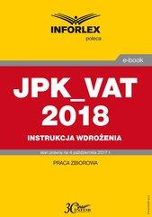 JPK_VAT 2018 – Instrukcja wdrożenia