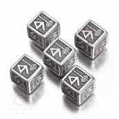 Komplet krasnoludzki k6 Metalowo-czarny