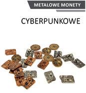 Metalowe Monety - Cyberpunkowe (zestaw 24 monet)