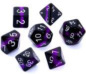 Komplet kości REBEL RPG - Minerały - Ametyst