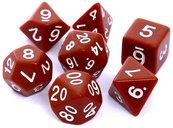 Komplet kości REBEL RPG - Matowe - Brązowe
