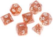Komplet kości REBEL RPG - Brokatowe - Brązowe