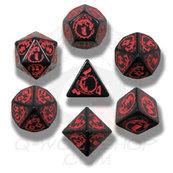 Komplet Kości smoczy - Czarno-czerwony