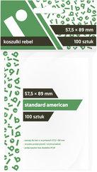 "Koszulki na karty Rebel (57,5x89 mm) ""Standard USA"", 100 sztuk"