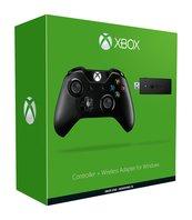 Kontroler Microsoft czarny Xbox ONE - bezprzewodowy z adapterem do komputera