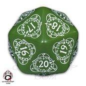 K20 Licznik poziomów do gier karcianych - Zielono-biała (akcesoria)