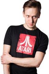 Atari Logo koszulka czarna - L