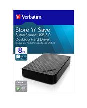 """DYSK ZEWNĘTRZNY VERBATIM SOLID N SAVE HDD 8TB 3,5"""" USB 3.0 GEN2 CZARNY"""