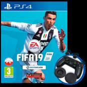 FIFA 19 (PS4) PL + 6. PIŁKARZY W TRYBIE FUT + nakładki na Dualshock 4
