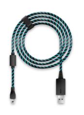 Kabel Lioncast do ładowania gamepada (PS4/Xbox) 4 metry czarno-niebieski (Kabel do gamepada)