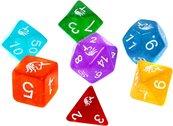 Komplet kości REBEL RPG - Akrylowe - Jednorożce