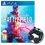 Battlefield V (PS4) Edycja Deluxe PL + nakładki na Dualshock 4