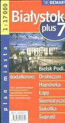 Białystok +7 plan miasta 1:17 000