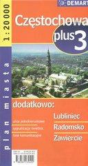 Częstochowa plus 3 1:20 000 plan miasta
