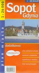 Gdynia Sopot plan miasta 1:26 000