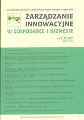 Zarządzanie innowacyjne w Gospodarce i Biznesie 1 (4)/2007