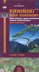 Pieniński Park Narodowy Małe Pieniny Jezioro Czorsztyńskie Mapa turystyczna 1:25 000 1:15 000