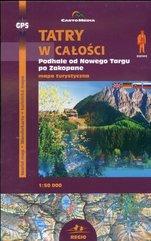 Tatry w całości Mapa turystyczna 1:50 000