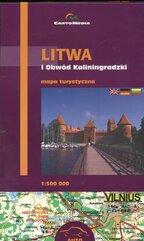 Litwa i Obwód Kaliningradzki Mapa turystyczna 1:500 000