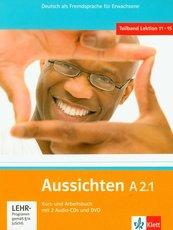 Aussichten A2.1 Kurs- und Arbeitsbuch mit 2 Audio-CDs und DVD