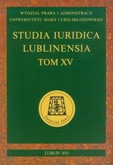 Studia Iuridica Lublinensia t XV